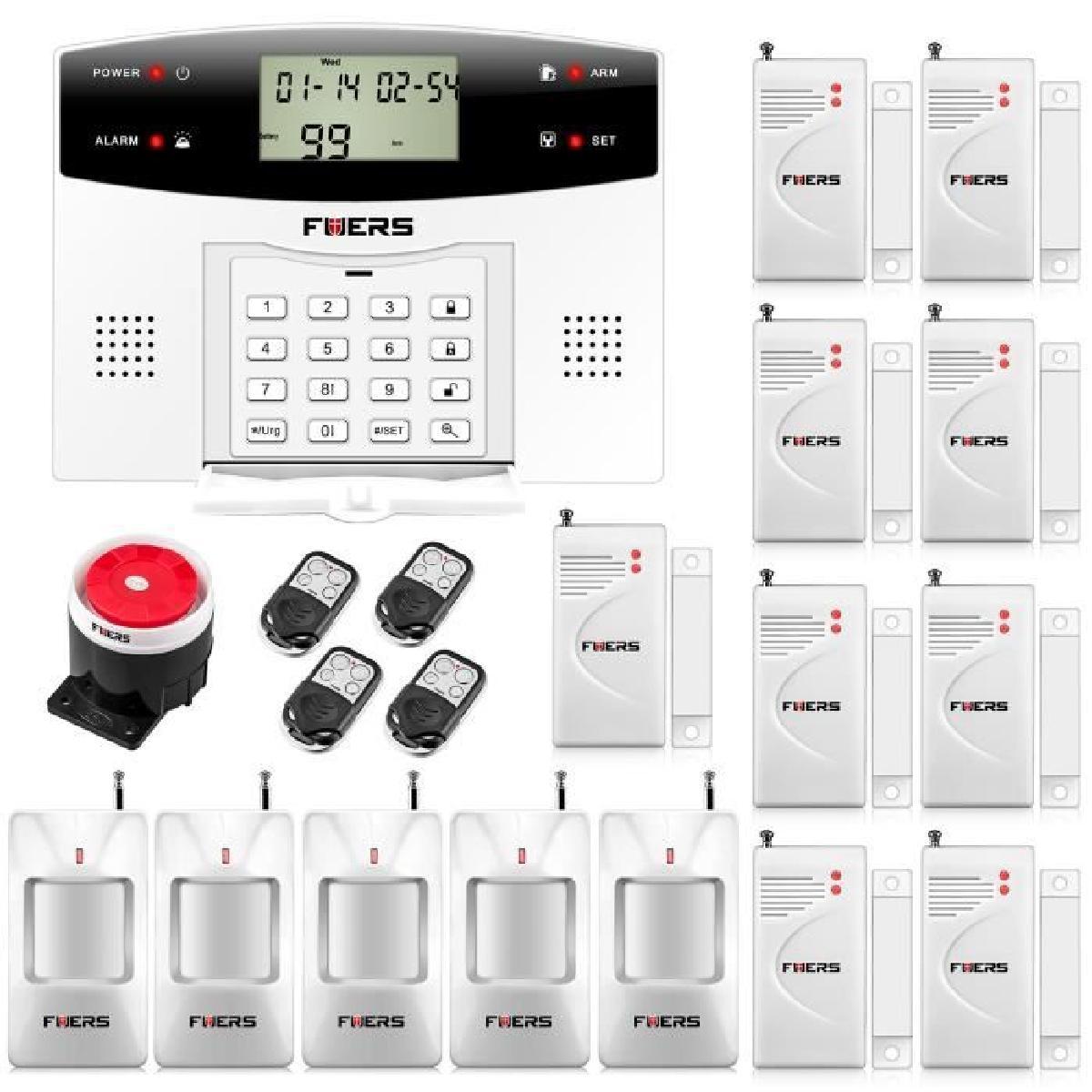 alarme sans fil kit alarme. Black Bedroom Furniture Sets. Home Design Ideas